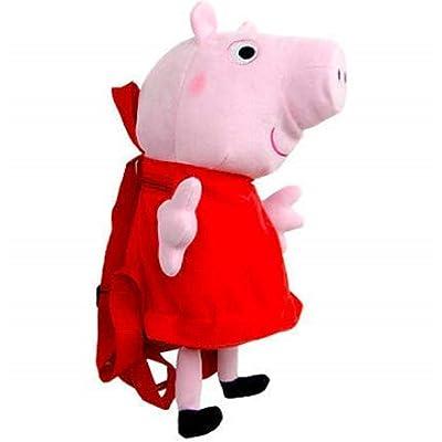 Peppa Pig Plush Backpack Pink Red | Kids' Backpacks