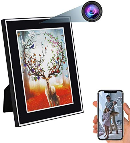 ZDMYING Photo Frame WiFi Camera HD 1080P Nanny Cam Wireless Photo Frame Camera Motion Detection & Night Vision Support…