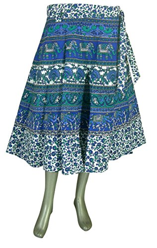 India Clothing Print Wrap Skirt