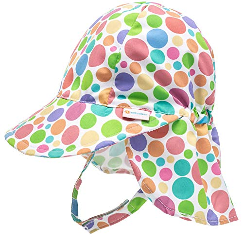 Nozone Better Baby Flap Sun Hat in Polka Dots, 2T-4T