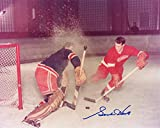GORDIE HOWE SIGNED AUTOGRAPHED 8x10 PHOTO DETROIT RED WINGS LEGEND BECKETT BAS