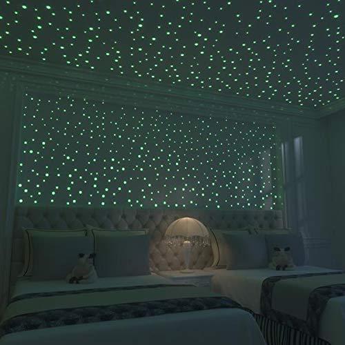 Glow in The Dark Stars- is Kids Bedroom Decor.Glow in The Dark Stars for Ceiling.524pcs Dots Ceiling Stars,Wall Stickers for Bedroom Good for Kids Room Decor Too.