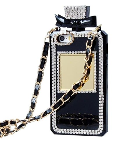 For Galaxy S8 Plus Case, Omio Charming Princess Perfume Bottle Cover With Necklace Neck & Wrist Chain String Luxury Bling 3D Handmade Shiny Glitter Crystal Diamonds Shell For Samsung Galaxy - Chain Case