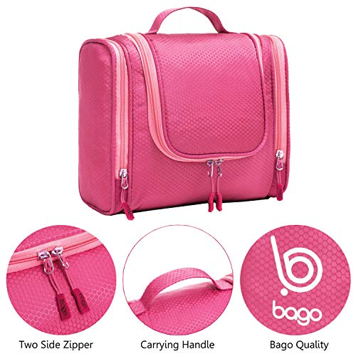 af90d4438576 Bago Hanging Toiletry Bag For Men   Women - Toiletries Travel Organizer ( Pink)