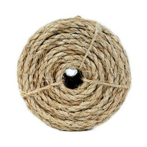Koch Industries Twisted Sisal Rope, 1/2 Inch by 50 Feet, Natural, (Natural Sisal Rope)