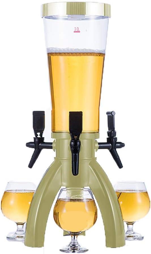 Sobremesa Torre de Cerveza Torre Dispensador De La Cerveza Kit con 3 Manijas De Grifo Dispensador De La Bebida For La Fiesta Opción para los Amantes de la Cerveza (Color : Gold, Size : 17x57cm)