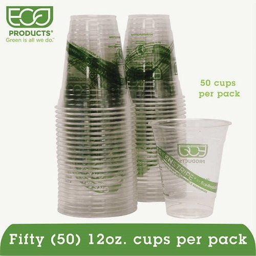 (GreenStripe Cold Drink Cups, 16oz, Clear, 50/Pack, Sold as 1 Package, 50 Each per Package)