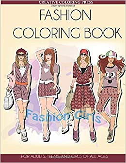 Amazon Com Fashion Coloring Book For Adults Teens And Girls Of