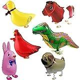 Signstek ウォーキング 動物アルミバルーン 6種類セット  誕生日 パーティー装飾や子供のプレゼントに最高 (赤)