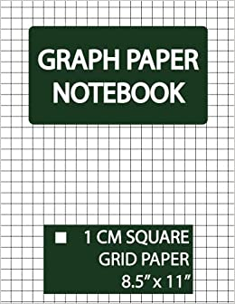 graph paper notebook 1 cm square grid squared graphing paper blank
