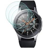 Samsung Galaxy Watch 46mm Screen Protector, 3 Pack 9H Hardness 0.3mm 2.5D Scratch Resistant Anti-bubbles Anti-Fingerprint Waterproof Tempered Glass Screen Protector Protective Film Cover for Samsung Galaxy Watch 46mm