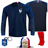 0e38ffa02 France Soccer Team Pogba Griezmann Mbappe Kid Youth Replica Jersey Kit :  Shirt, Short,