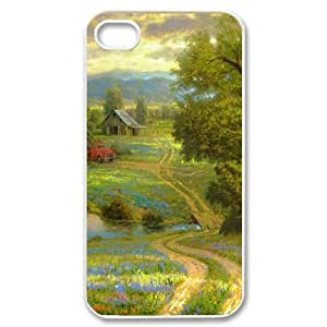 Country Dirt Road Old Truck Painting IPhone 4/4s Cases, Iphone 4s Case for Boys Funny Design Vinceryshop - White