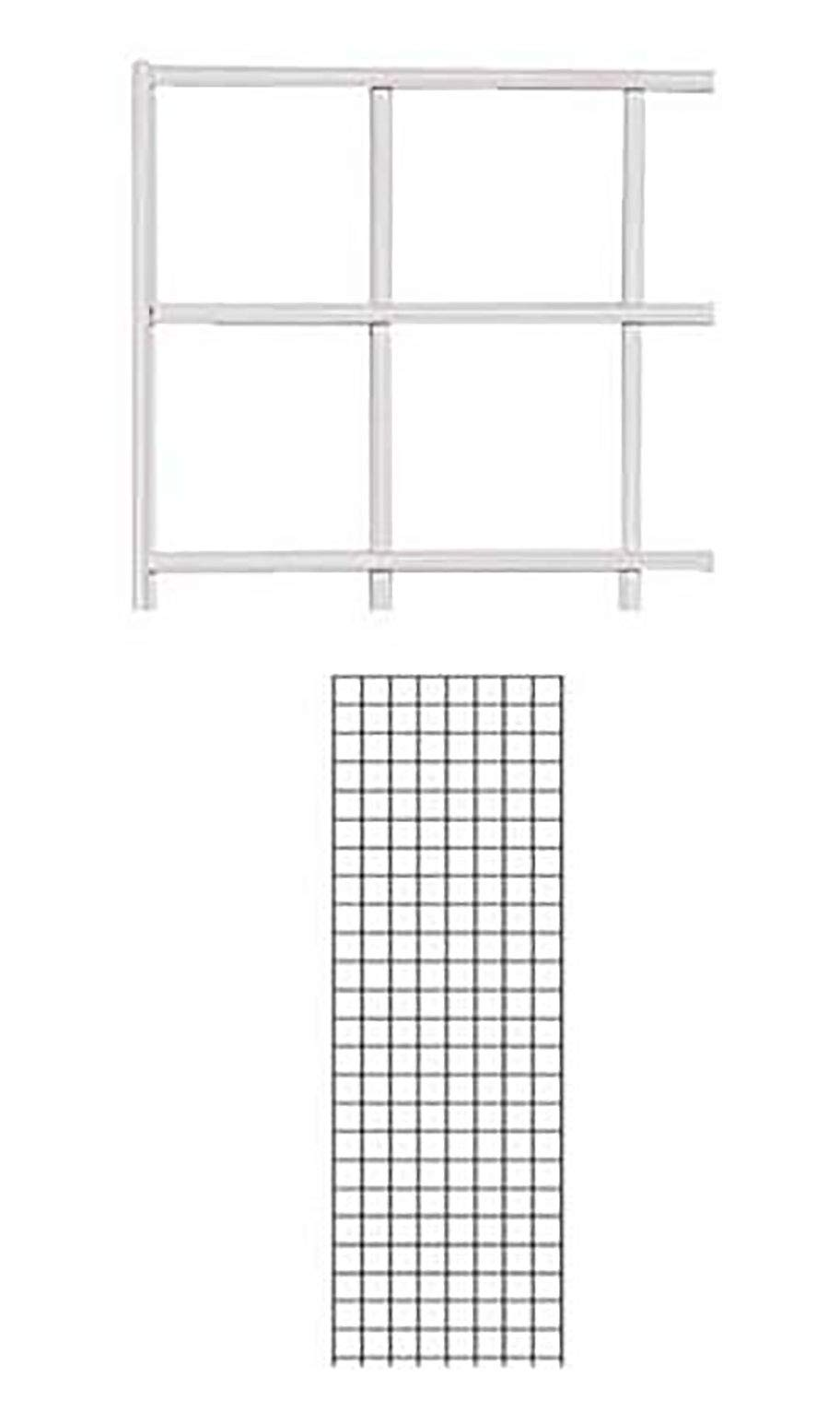 2 x 6 Foot White Wire Grid Panel - 3'' on Center ¼'' Thick