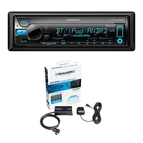 [Kenwood KDC-BT565U In Dash CD Player AM/FM Bluetooth Radio Stereo Receiver With Sirius SXV300-V1 Vehicle Satellite Radio Tuner] (Kenwood Sirius Satellite Tuner)