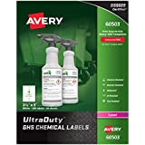 "Avery UltraDuty GHS Chemical Labels for Laser Printers, Waterproof, UV Resistant, 3.5"" x 5"", 200 Pack (60503)"