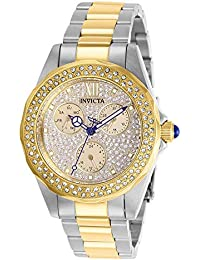Women's Angel Quartz Watch with Stainless Steel Strap, Two Tone, 18 (Model: 28433)