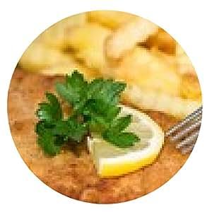alfombrilla de ratón Schnitzel con las patatas fritas - ronda - 20cm