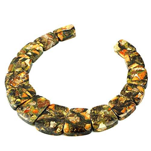 Necklace Beads Pendant Jasper (Large Ladder Shaped Gemstone Pendant Graduated Beads Set for Necklace Design 13