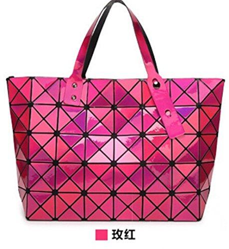 Bolso de la perla de las mujeres Tote Geometry Bolsa de hombro acolchada saco bolsas bolsos de las mujeres 7 13