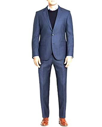 Amazon.com: Hugo Boss Mens Silk Wool Huge3/Genius2 Slim Fit 2 Pcs ...