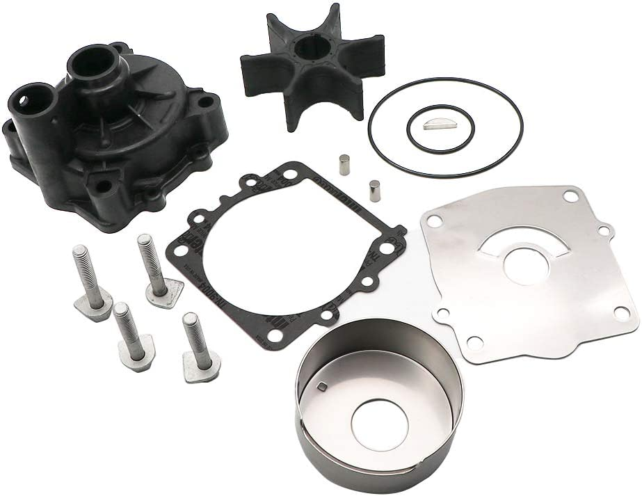 KIPA Impeller Water Pump Repair Kit with Housing for Yamaha 61A-W0078-A2-00 61A-W0078-A3-00 V6 Outboards 150, 175, 200, 225, 250, 300 Hp, Fits for Sierra 18-3396, 61A-W0078-A1