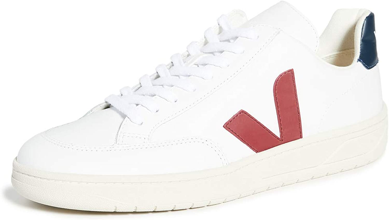 VEJA V-12 Leather Zapatillas Moda Hombres Blanco/Azul/Rojo Zapatillas Bajas