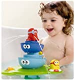 Water Spraying Tool Stream Tub Fountain Kid's Bath Toy Octopus Pontoon Fountain