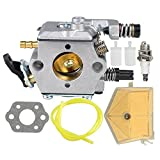 Hilom Carburetor with Air Filter Spark Plug for Husqvarna 50 51 55 Chainsaw Walbro WT-170 Carb Replaces 503281504