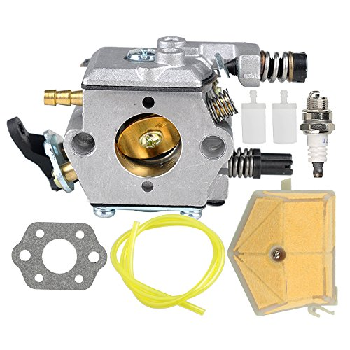 Hilom Carburetor with Air Filter Spark Plug for Husqvarna 50 51 55 Chainsaw WT-170 Carb Replaces 503281504