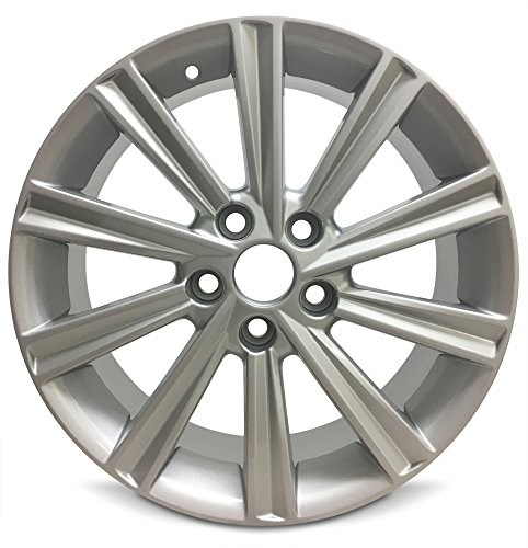 Road Ready Car Wheel For 2012-2014 Toyota Camry 17 Inch 5 Lug Gray Aluminum Rim Fits R17 Tire - Exact OEM Replacement - Full-Size Spare ()