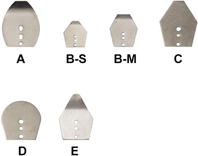 CUSHY 10Pcs Stainless Steel Swim Jig Dancer Blades Shakee Blades Shaker Swim Blades Mag Jig Dancer: B Size XL