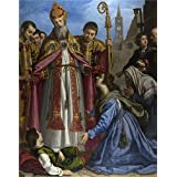Canvas Prints Of Oil Painting ' Giovanni Bilivert Saint Zenobius Revives A Dead Boy ' , 24 x 31 inch / 61 x 78 cm , Polyster Canvas Is For Gifts And Basement, Home Theater And Nursery Decoration, pop