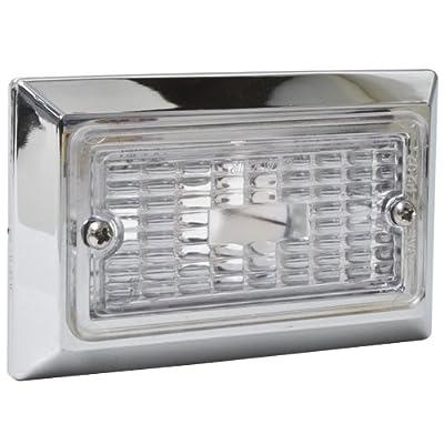 Blazer B455C Rectangular Utility Light with Chrome Bezel: Automotive