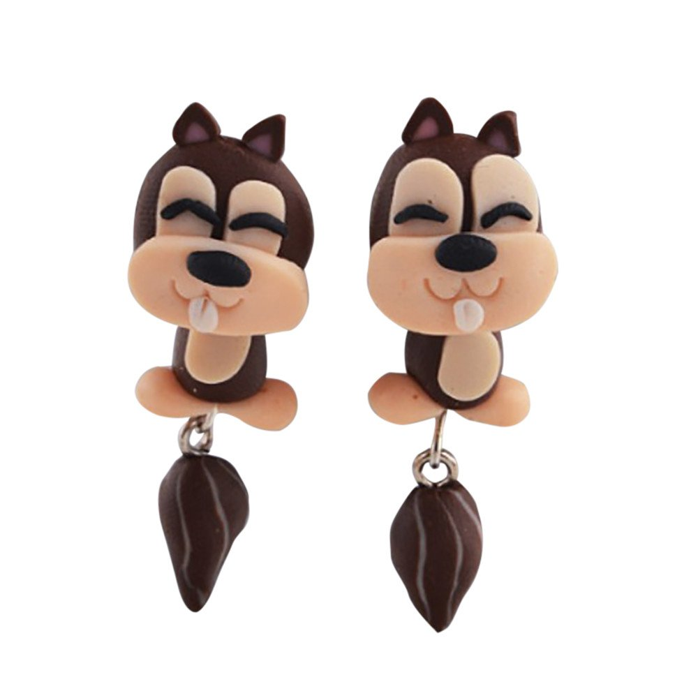 1Pair Jewelry Handmade Clay Soft Pottery Earrings Animal Earring Accessories