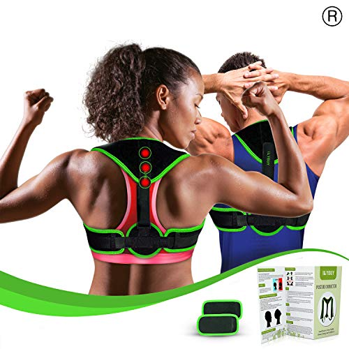 Clavicle Brace Neck Hump Corrector, Posture Corrector for Women & Men, Magnetic Upper Back Brace Slouch Posture Support, Upright Posture Trainer, Back Straightener, Best Scoliosis Primate Brace (S-L)