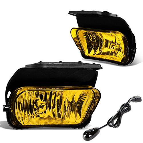 For Chevy Silverado Pair of Bumper Driving Fog Lights + Wiring Kit + Switch (Amber Lens)