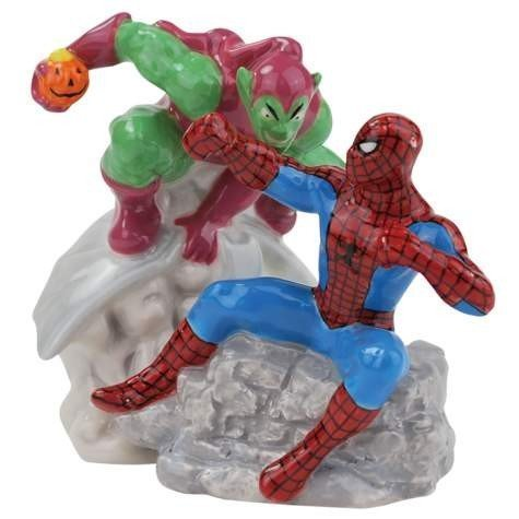 Spider-Man Vs Green Goblin Salt & Pepper Shakers