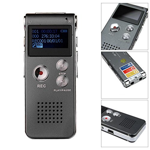 Happy Hours - New Portable Easy-to-use 8GB USB Digital Audio Voice Recorder (Lady Executive Blue Gem)