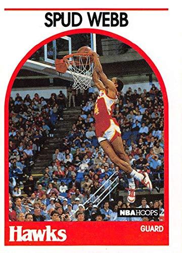 1989-90 Hoops Basketball #115a Spud Webb Atlanta Hawks ERR Signed 9/27/1989 Official NBA Trading Card