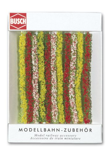 Busch 7152 Blooming Hedges 10.5cm HO Scenery Scale Model Scenery