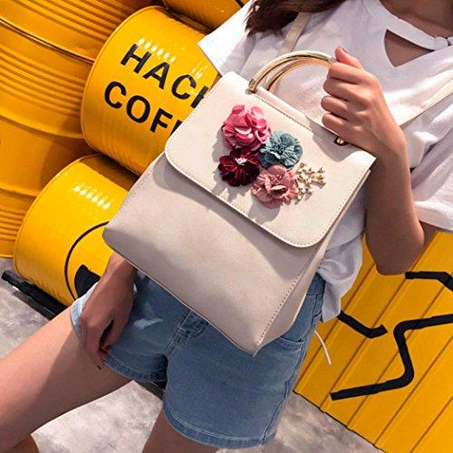 Fashion Beige Leather Floral Shoulder Lnclined Backpack Bag Black Backpacks SOMESUN Bag Fashion Women Shoulder Decal Bags HfrH1