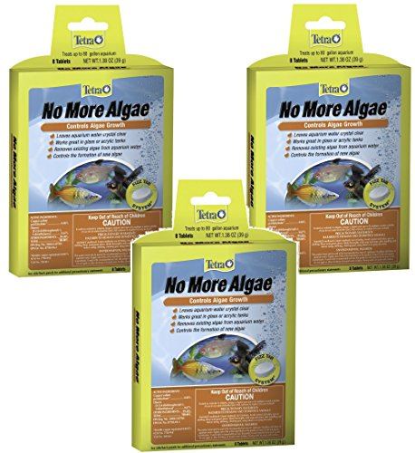 Algae Tetra Control (Tetra No More Algae Tablets - 24 Tablets Total (3 Packs with 8 Tablets per Pack))