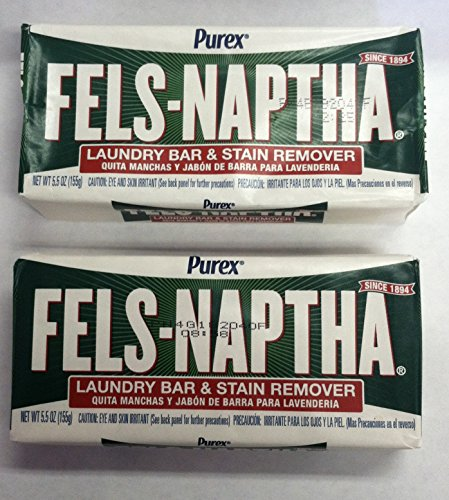 Fels Naptha Laundry Soap Bar - 5.0 oz - 2 pk (Homemade Laundry Soap With Borax And Washing Soda)