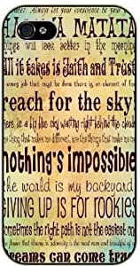 Hakuna Matata, reach the sky, nothing is impossible - Inspired by Lion King - iPhone 4 / 4s black plastic case / Inspiration Walt Disney quotes