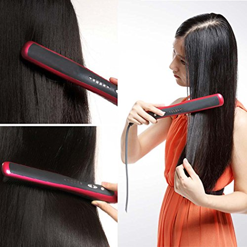 Ocathnon Digital Ceramic Hair Straightener and Hot-air Br...