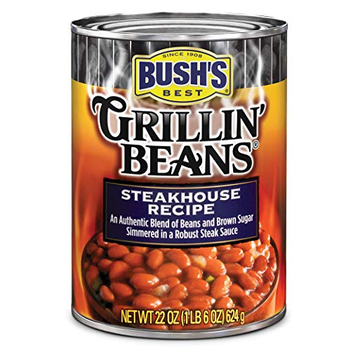Bush's Best Grillin' Beans Steakhouse Recipe Baked Beans, 22 oz