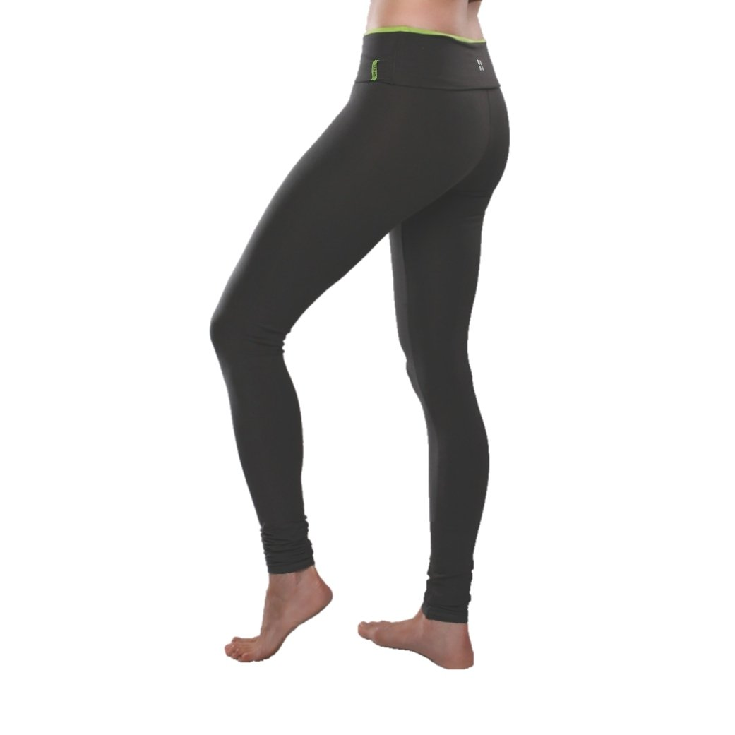 Yoga City Women's Chicago Legging Yoga Pant (Graphite, L) by Yoga City