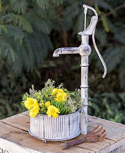 - Distressed Metal Well Pump Planter