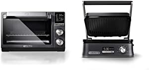 Calphalon Quartz Heat Countertop Toaster Oven, Stainless Steel, Extra-Large Capacity, Black, Dark Gray & Even Sear Indoor Electric Grill, Multi, Dark Stainless Steel